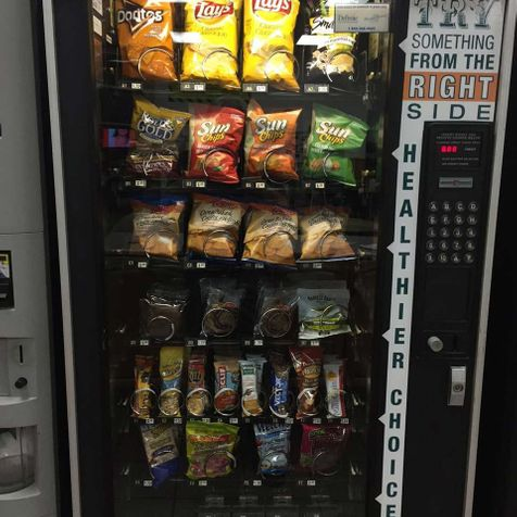 vending machine with snacks